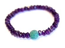 Bracelet made of amethyst and agate - Jewellery Sale