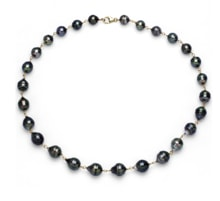 NECKLACE OF TAHITIAN PEARLS, 14K GOLD - TAHITIAN PEARLS - PEARLS