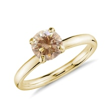 Diamond ring in 14kt solid gold - Diamond Rings