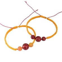 SET OF TWO BRACELETS WITH AGATES AND CORALS - JEWELLERY SALE
