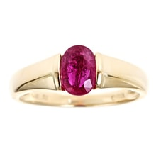 GOLDEN RING WITH RUBY - RUBY RINGS - RINGS