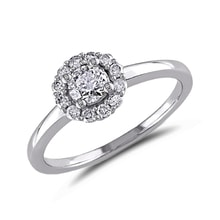 Diamond engagement ring in 14kt gold - White Gold Rings