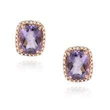SILVER EARRINGS WITH AMETHYSTS - AMETHYST EARRINGS - EARRINGS