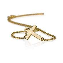 Gold-plated silver cross necklace - Cross pendants