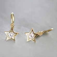 CHILDREN WITH DIAMOND EARRINGS STAR - JEWELLERY BY GEMSTONE