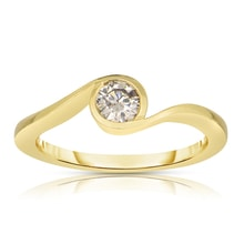 GOLD RING WITH DIAMOND - ENGAGEMENT RINGS WITH COLOURED DIAMANTÉ - ENGAGEMENT RINGS WITH GEMSTONES