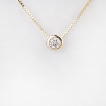Golden pendant with diamond - Diamond pendants