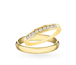 Yellow Gold Wedding Rings