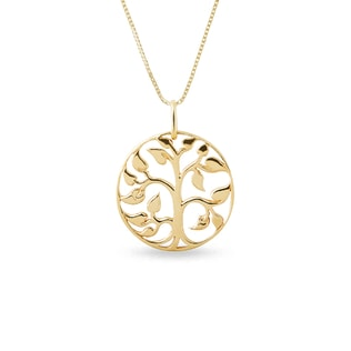 Tree of Life pendant in yellow gold