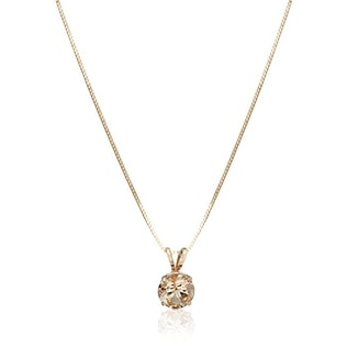 MORGANITE PENDANT IN 14KT GOLD - ROSE GOLD FINE JEWELLERY - FINE JEWELLERY