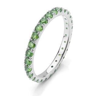 EMERALD GOLD RING IN 14KT WHITE GOLD - EMERALD RINGS - RINGS