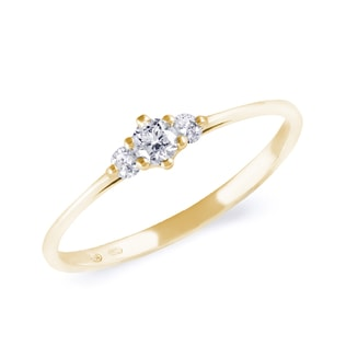 CZ ENGAGEMENT RING IN 14KT GOLD - ENGAGEMENT GEMSTONE RINGS - ENGAGEMENT RINGS