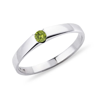 GOLD RING PERIDOT - WHITE GOLD RINGS - RINGS