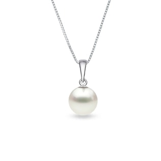 PEARL PENDANT IN WHITE GOLD - PEARL PENDANTS - PEARL JEWELRY