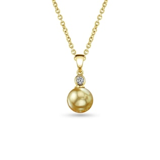 SOUTH PACIFIC PEARL AND DIAMOND PENDANT IN 14KT GOLD - SOUTH PACIFIC PEARLS JEWELLERY - PEARL JEWELLERY