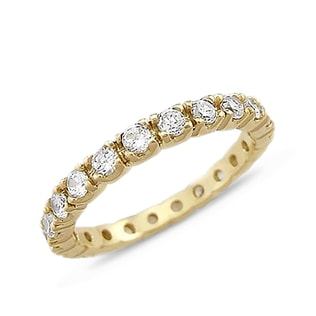 CZ GOLD RING - YELLOW GOLD RINGS - RINGS