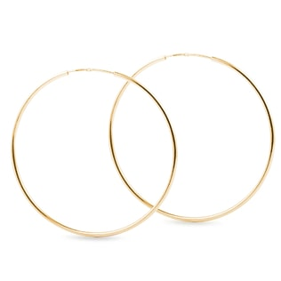 Hoop earrings in 14kt gold