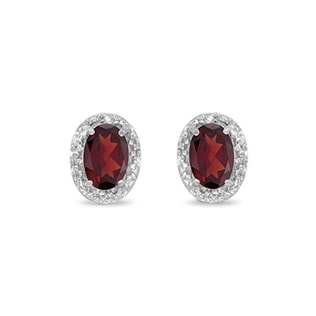 GARNET EARRINGS 1.1KT IN 14KT GOLD - GARNET EARRINGS - EARRINGS
