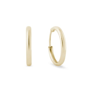 GOLD HOOP EARRINGS FOR CHILDREN - YELLOW GOLD EARRINGS - EARRINGS
