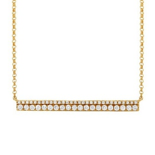 DIAMOND NECKLACE IN 14KT YELLOW GOLD - DIAMOND PENDANTS - PENDANTS