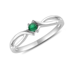 EMERALD RING IN 14KT GOLD - WHITE GOLD RINGS - RINGS