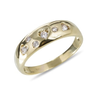GOLD RING DECORATED WITH CZ STONES - RINGS FOR HER - WEDDING RINGS
