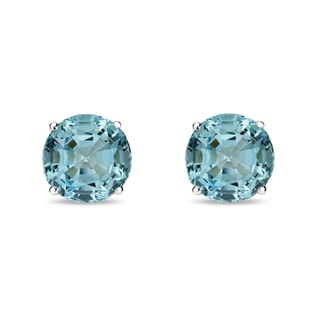 EARRINGS IN WHITE GOLD WITH TOPAZ - TOPAZ EARRINGS - EARRINGS