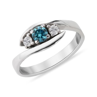 RING WITH COLORED DIAMONDS - DIAMOND RINGS - RINGS