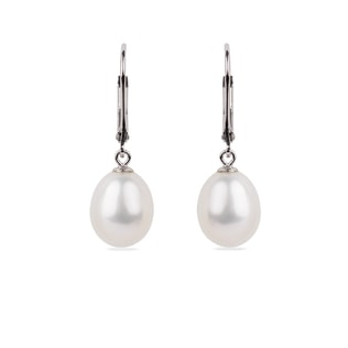 STERLING SILVER PEARL EARRINGS - PEARL EARRINGS - PEARL JEWELLERY