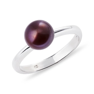 BROWN PEARL RING IN STERLING SILVER - STERLING SILVER RINGS - RINGS