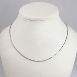 WHITE GOLD CHAIN - GOLD CURB CHAINS - PENDANTS