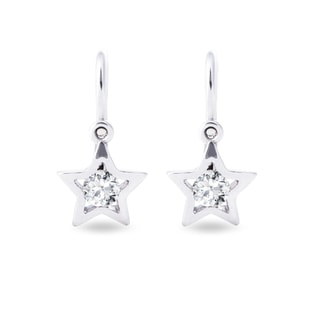 BABY DIAMOND STAR EARRINGS IN WHITE GOLD - CHILDREN'S EARRINGS - EARRINGS
