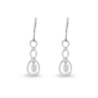 DIAMOND PENDANT EARRINGS IN 14KT GOLD - DIAMOND EARRINGS - EARRINGS