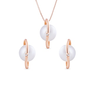 PEARL SET IN ROSE GOLD - PEARL SETS - PEARL JEWELLERY