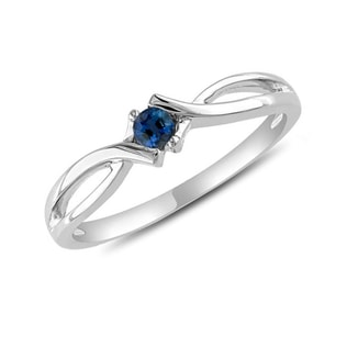 SAPPHIRE RING IN 14KT GOLD - WHITE GOLD RINGS - RINGS