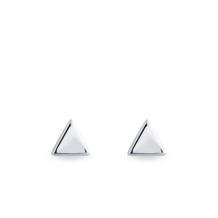 EARRINGS IN THE SHAPE OF TRIANGLES - MINIMALISTIC JEWELLERY - FINE JEWELLERY