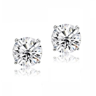 CZ 14KT GOLD EARRINGS - CZ STONE EARRINGS - EARRINGS
