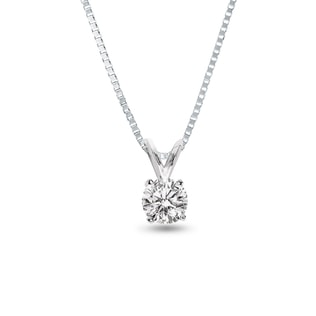 SILVER PENDANT WITH DIAMOND - DIAMOND PENDANTS - PENDANTS
