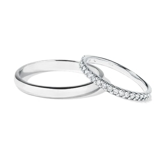 Diamond wedding rings in white gold