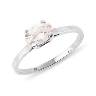 MORGANITE RING IN STERLING SILVER - STERLING SILVER RINGS - RINGS