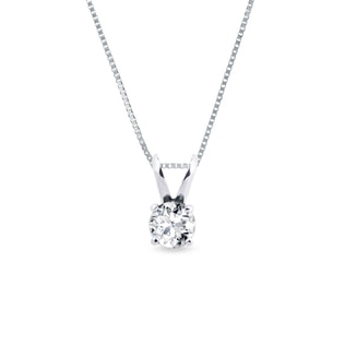 Diamond pendant 0.5kt in 14kt gold