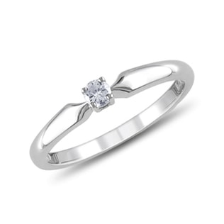 DIAMOND RING IN 14KT WHITE GOLD - SOLITAIRE ENGAGEMENT RINGS - ENGAGEMENT RINGS