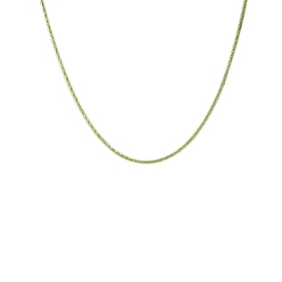 Yellow gold curb chain