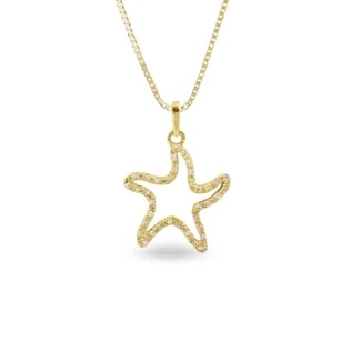 Diamond starfish charm in 14kt gold