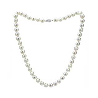 AKOYA PEARL NECKLACE IN 14KT GOLD - PEARL NECKLACES - PEARL JEWELLERY