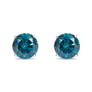 BLUE DIAMOND STUD EARRINGS - STUD EARRINGS - EARRINGS