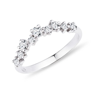 DIAMOND RING IN WHITE GOLD - RINGS FOR HER - WEDDING RINGS