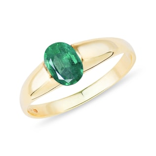 GOLD RING WITH EMERALD - FINE JEWELLERY