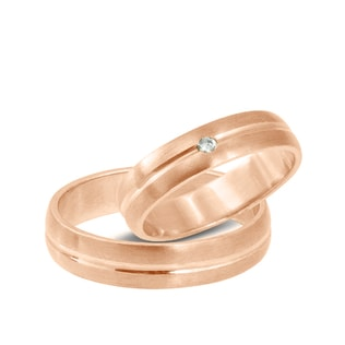 DIAMOND WEDDING RINGS IN 14KT GOLD - ROSE GOLD RINGS - WEDDING RINGS