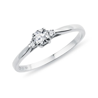 ENGAGEMENT RING WITH DIAMONDS IN GOLD - ENGAGEMENT DIAMOND RINGS - ENGAGEMENT RINGS